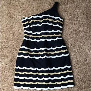 Lilly Pulitzer one shoulder nautical dress